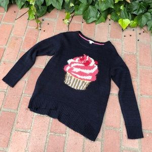 Cupcake Long Sleeve Knitted Sweater Pullover